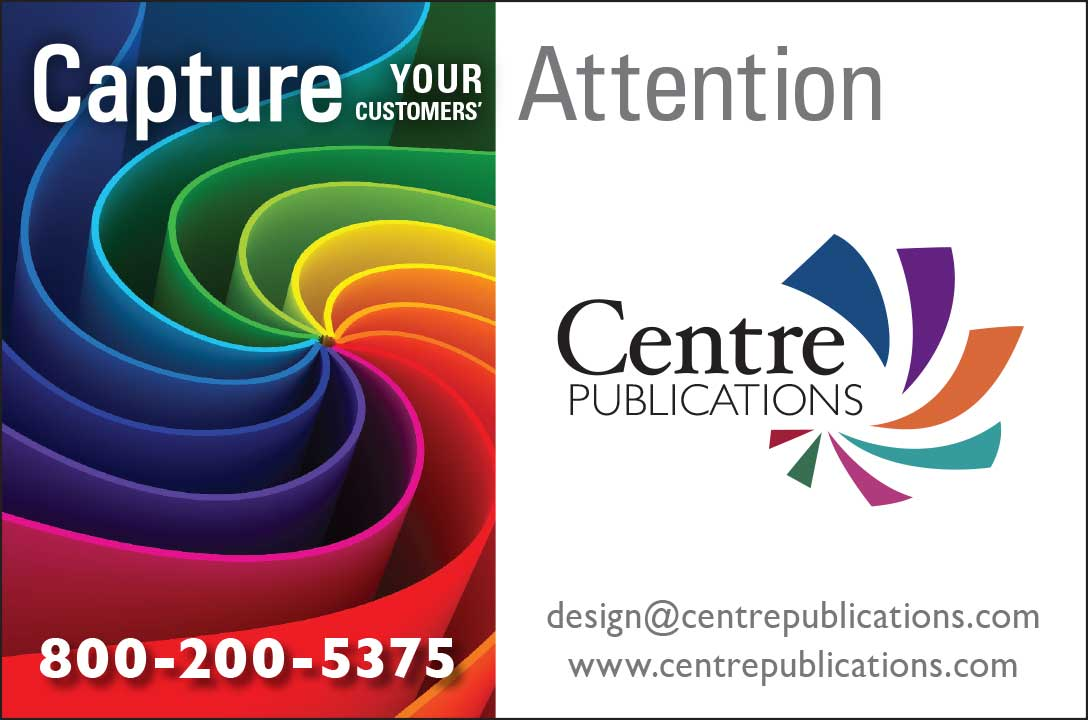 """<center>Centre Publications, Inc. 