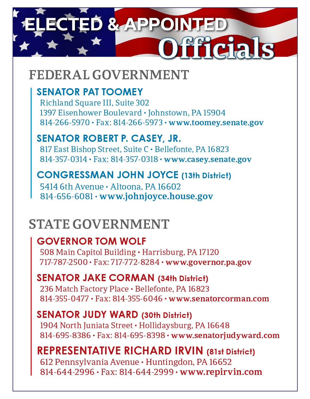 Elected & Appointed Officials