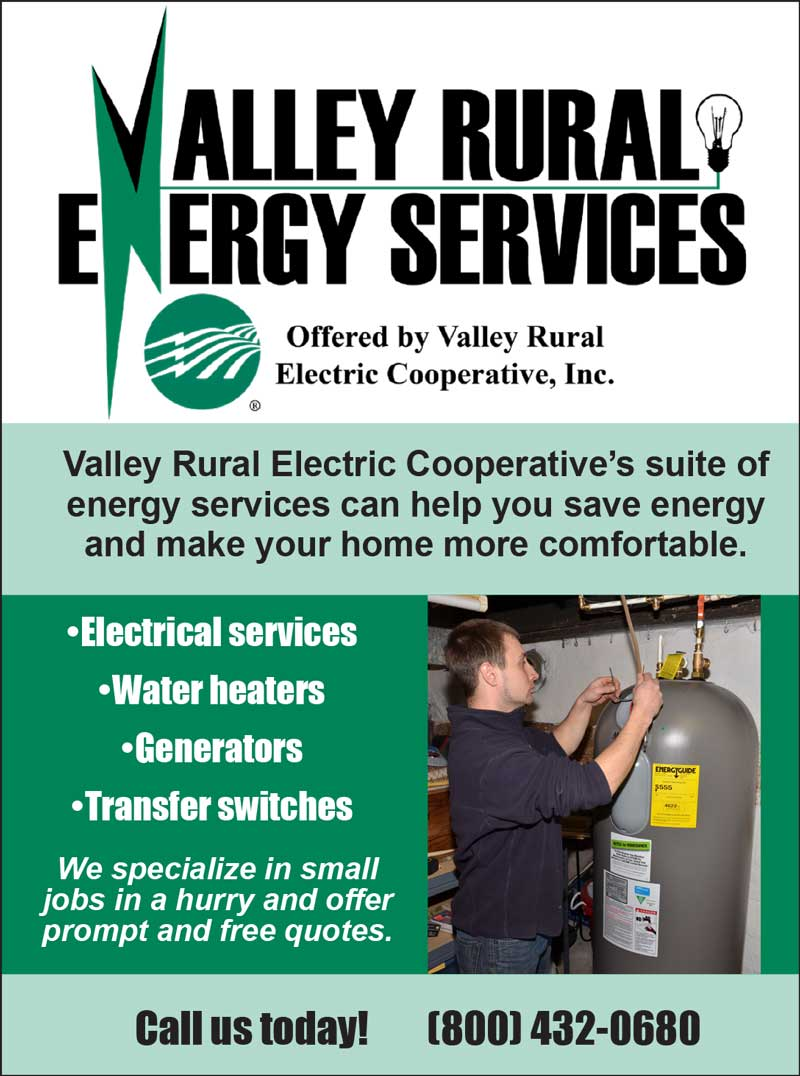 """<center>Valley Rural Energy Services 