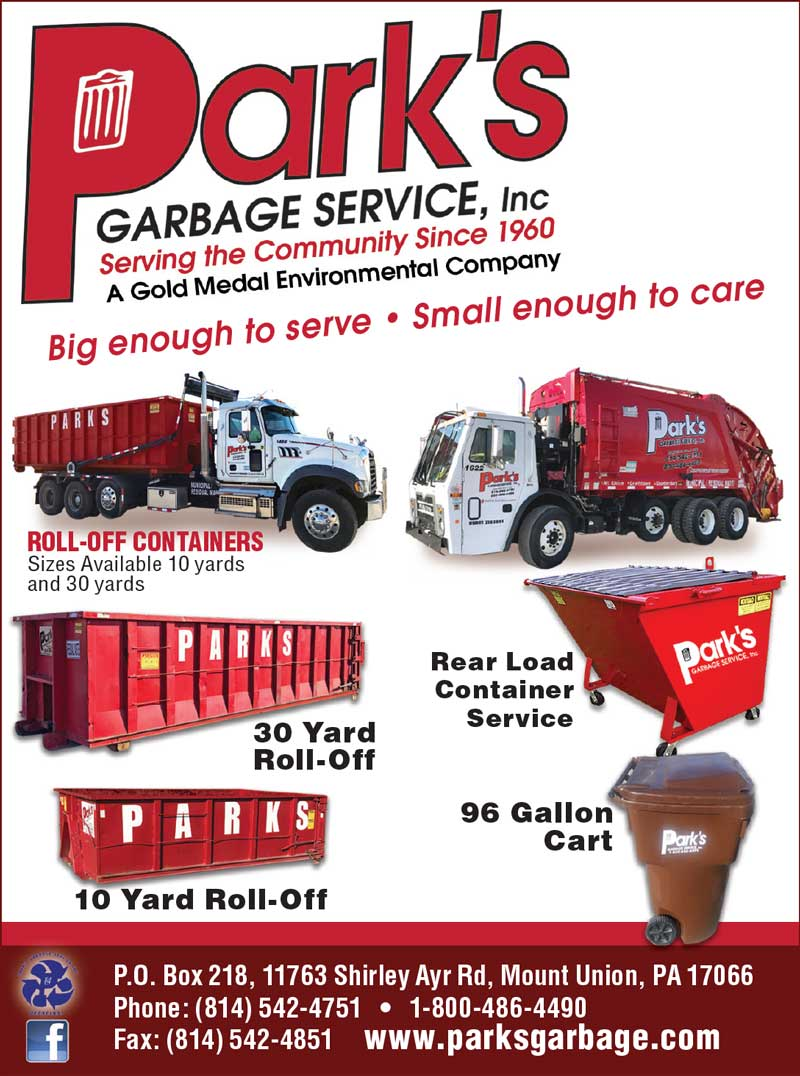 """<center>Park's Garbage Service, Inc 